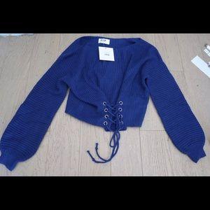 Lf seek the label corset sweater S blue